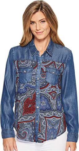 Tribal - Long Sleeve Shirt with Print Combo