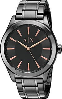 A|X Men's Gunmetal Tone Stainless Steel Watch AX2330