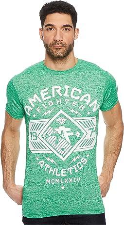 American Fighter Hartwick Short Sleeve Tetris Mock Twist Tee