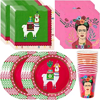 Talking Tables Frida Kahlo Fiestive Boho Bundle Party Supplies Holiday, Fiesta & Bohemian Party | Paper Plates, Paper Cups & Paper Napkins