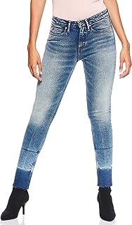 Calvin Klein Women's 8719113679-Blue Calvin Klein Jeans Skinny Jeans for Women - Lyon Blue With Patch