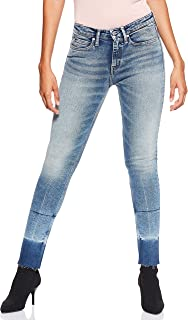 Calvin Klein Women's 8719113679-Blue Calvin Klein Jeans Skinny Jeans for Women - Lyon Blue With Patch