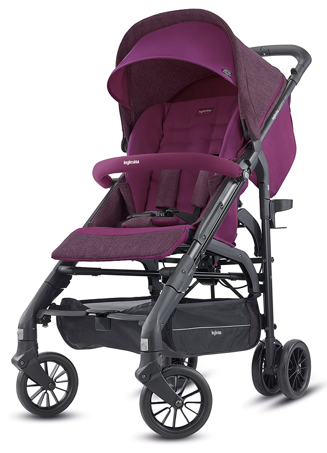 Inglesina Zippy Light Stroller - Car Seat Compatible Lightweight Stroller with Premium Accessories Included {Raspberry Purple}