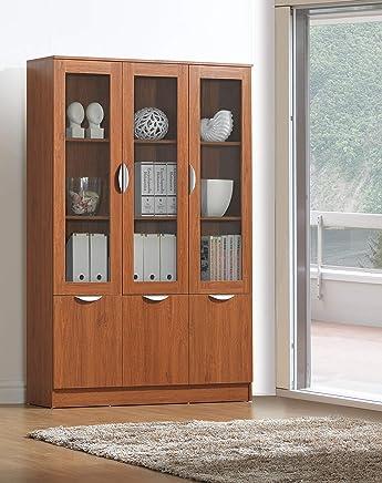 Maison Concept Wooden Cabinet, Brown - H 1800 mm x W 320 mm x D 1200 mm