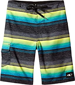 O'Neill Kids Santa Cruz Stripe Boardshorts (Big Kids)