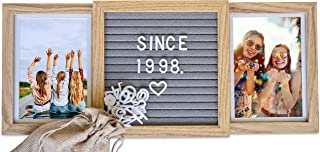 Picture Frame with Genuine Felt Letter Board: Photo Collage 4x6 inch Pictures - Personalize Memories - Wooden Photo Frame - Customizable for Family, Adventure, Best Friends, Memories, Love
