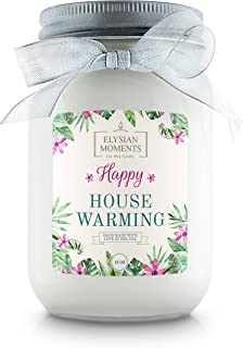 Elysian Moments Soy Wax Highly Scented Happy House Warming Gift Candle Cinnamon BUN 16 oz