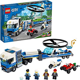 LEGO City Police Helicopter Transport 60244 Police Toy,...