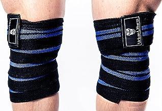 Gewichtheffen kniewraps. Heavy Duty, elastische knieondersteuning. Perfect voor Squatting, Powerlifting, Olympisch Lifting...
