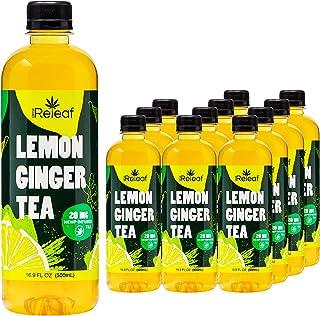 Sponsored Ad - Drink Releaf Lemon Ginger Tea with 20 mg Hemp-Infused Tea, Lemon Ginger Green Tea, Ready to Drink Ginger Le...