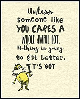 Dr. Seuss Someone Like You Cares Quote Children's Prints Artwork Picture Poster Home Office Bedroom Nursery Kitchen Wall Decor - unframed