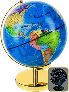 World Globe 3 in 1 - LED Night Light Globe - Illuminated Constellation - 9