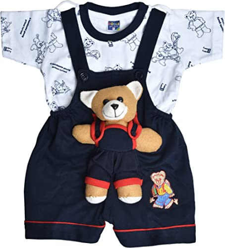Roble Baby Boy's and Baby Girl's Romper Baba Suit Dungaree 6 Months -2 Years