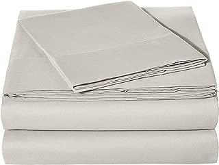 AmazonBasics Light-Weight Microfiber Sheet Set - Twin XL, Light Grey