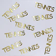 Metallic Confetti Word - TENNIS in 12 Colors (Also Available in Paper) #4367