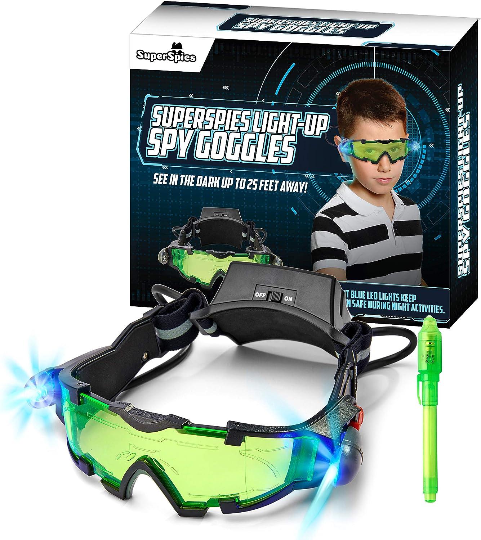 STICKY LIL FINGERS Light-up Regular discount shop Spy Goggles for Pl Gear Kids -