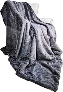 Exclusivo Mezcla Luxury Faux Fur Oversized Throw Blanket 60