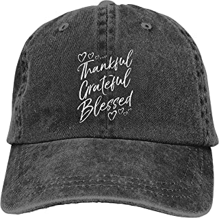 Denim Cap Grateful Thankful Blessed Baseball Dad Cap Classic Adjustable Sports for Men Women Hat