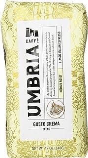 Caffe Umbria Fresh Seattle Whole Bean Roasted Coffee, Gusto Crema Blend Medium Roast, 12 oz. Bag