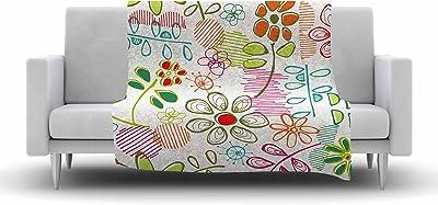 40 x 30 Kess InHouse Jolene Heckman A Cheerful Morning Blue Red Fleece Throw Blanket