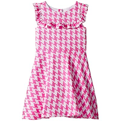 Janie and Jack Houndstooth Dress (Toddler/Little Kids/Big Kids) (Pink) Girl