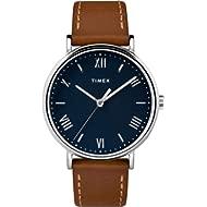 Men's TW2R63900 Southview 41 Tan/Silver Tone/Blue Leather Strap Watch