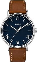 Timex Men's TW2R63900 Southview 41 Tan/Silver Tone/Blue Leather Strap Watch
