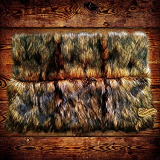 FUR ACCENTS Premium Faux Fur Wolverine / Wolf / Coyote Skin Area Pelt Rug Rectangle (5'x6')