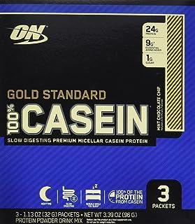 Optimum Nutrition Gold Standard 100% Casein Protein Powder Travel Size, Mint Chocolate Chip, 3 Count