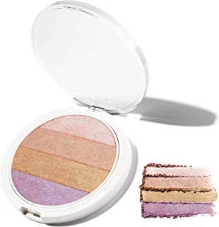 4-in-1 Highlighting Palette. Coconut Extract for Dewy, Radiant Glow – UNDONE BEAUTY Nonzer. Blendable Powder for Highlight...