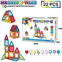 Deals on 22-Piece Magnetic Tiles Construction Block Set