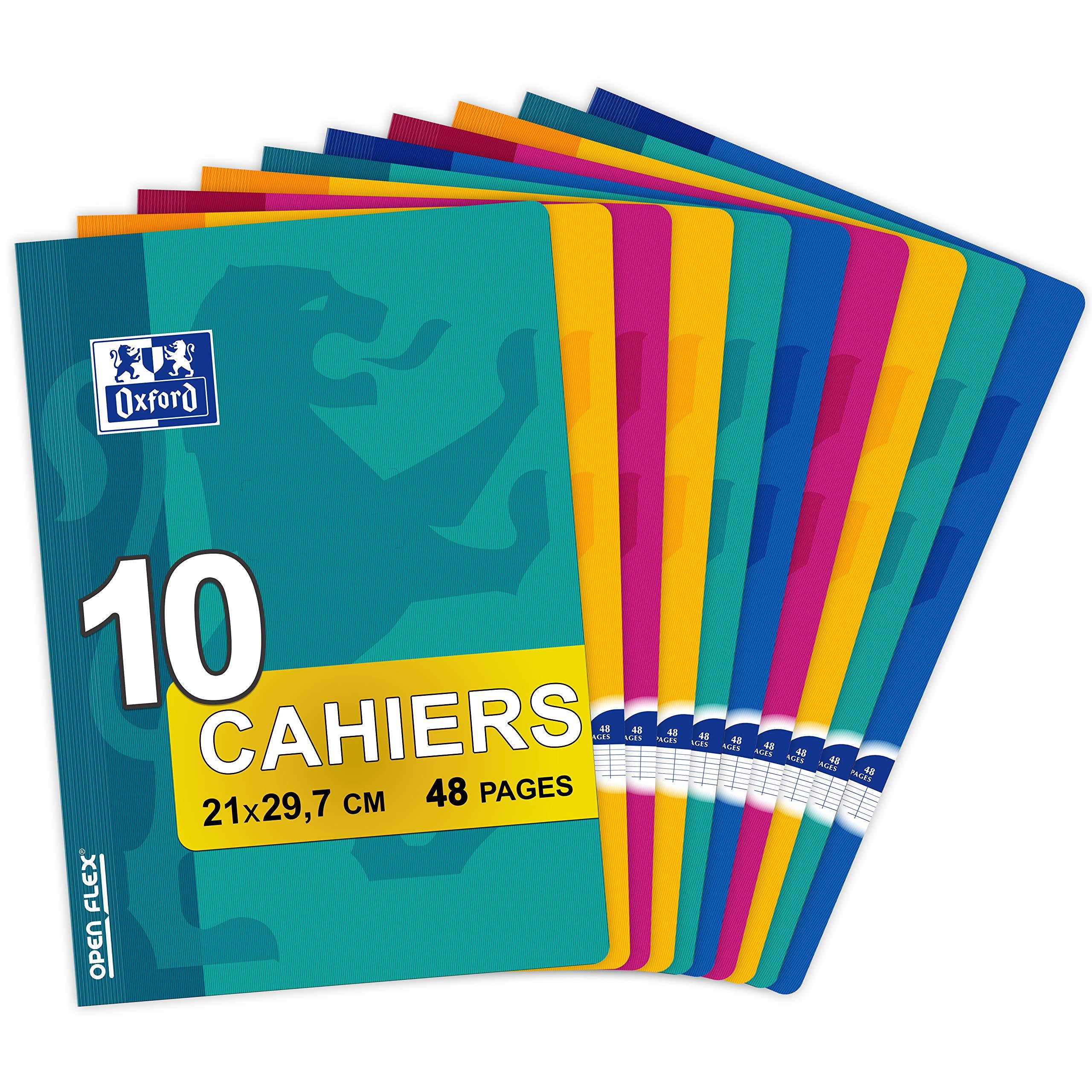Oxford OpenFlex – Juego de 10 cuadernos A4, hojas, 48 páginas, colores surtidos: Amazon.es: Oficina y papelería
