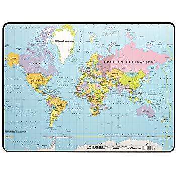 Cartina Mondo Tiger.Durable 721119 Sottomano Con Mappa Politica Del Mondo Antiscivolo 530 X 400 Mm Amazon It Cancelleria E Prodotti Per Ufficio