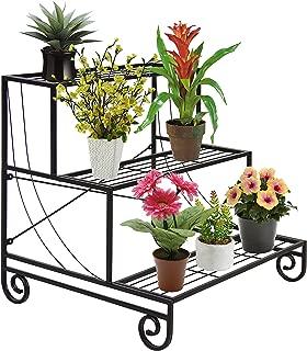 Best Choice Products 3 Tier Metal Plant Stand Decorative Planter Holder Flower Pot Shelf Rack Black
