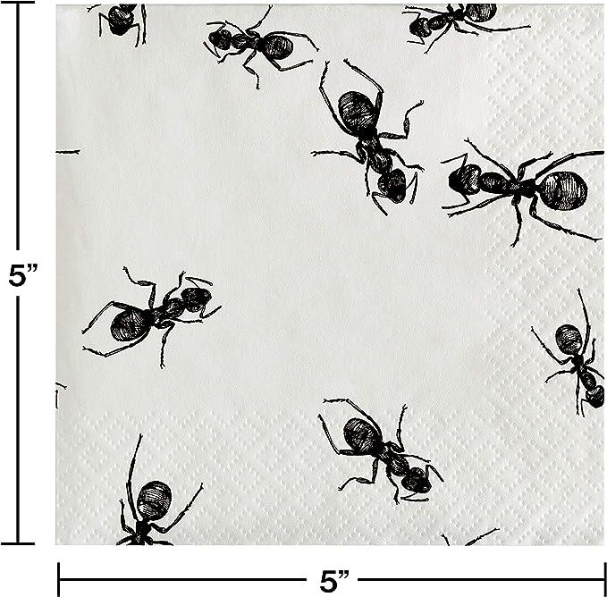 Ants Monogrammed Cloth Napkins ant gift picnic napkins picnic gift ant linens Cotton linens Set of 4 ant napkins Dinner napkins