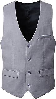 Benibos Men's Slim Fit Suit Vest Waistcoat