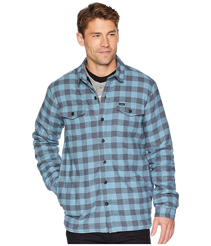 Dickies 67 Collection Flannel Shirt Jacket with Sherpa Lining (Rinsed Blue Buffalo Plaid) Men