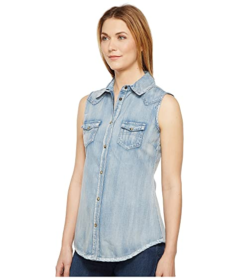 Tasha Polizzi Katie Shirt Washed Denim 100% Guaranteed Cheap Price Outlet Low Shipping 9z9dSPWE