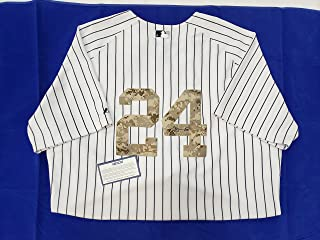 Gary Sanchez Signed New York Yankees Jersey with camouflage numbers
