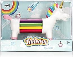 NPW Colouring Pencils / Pencil Crayons Pencil Holder Set - 10 Assorted Colours Unicorn Rainbow Pencils