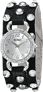 XOXO Women's XO3391 Analog Display Analog Quartz Black Watch