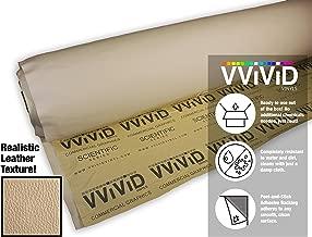 VViViD Beige Adhesive Weatherproof Faux Leather Marine Vinyl (5ft x 54