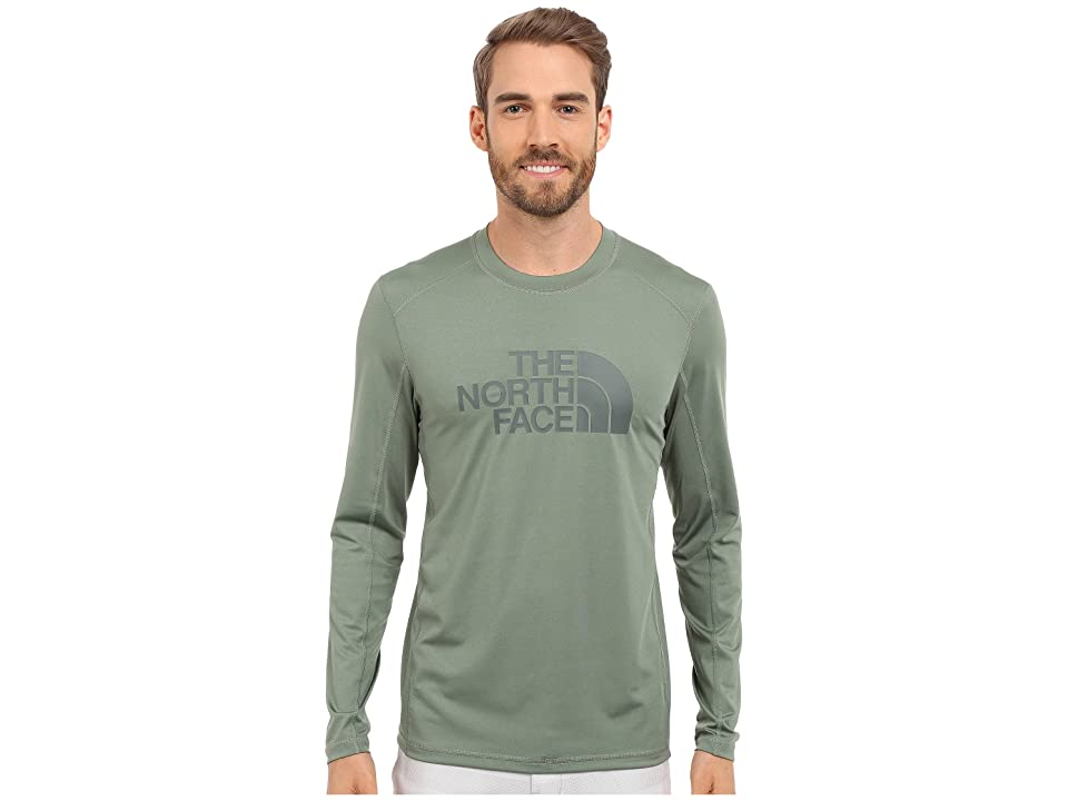 The North Face Long Sleeve Sink or Swim Rashguard (Laurel Wreath Green/Spruce Green (Prior Season)) Men