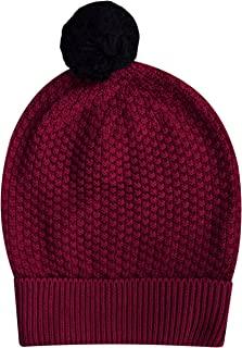thought Kelis Pom Pom Organic Wool Blend Beanie Hat