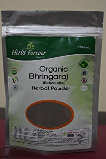 Organic Bringaraj Powder (Eclipta Alba) USDA Certified 100% Natural Hair Conditioner, for Hair Growth, nourishes Hair follicles, 230 Grams Also Available as ayurvedic