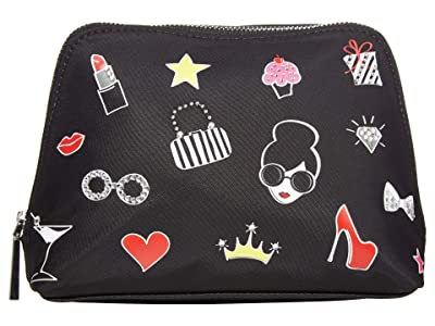 Alice + Olivia Nikki Printed Cosmetic Case (Glam) Handbags