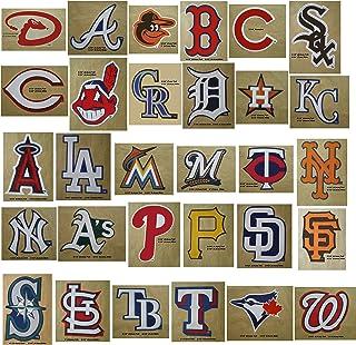 30 MLB 贴纸全套套装。 所有 30 支棒球队。 美国职业棒球队标志包。 Yankees Red Sox Dodgers Cubs Giants Tigers Braves White Mets Angels Indians Rangers Pirates Reds Astros Twins