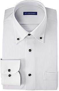 [スティングロード] ワイシャツ パーフェクトノーアイロン 長袖 ボタンダウン ニットシャツ 超形態安定 ストレッチ レギュラーフィット ST04004 メンズ