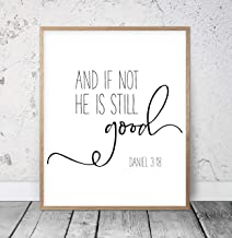 And If Not He Is Still Good Daniel 3:18 Bible Verse Printable Scripture Print Christian Gifts Christian Wall Art Biblical Wall Art Wood Pallet Design Wall Art Sign Plaque with Frame wooden sign