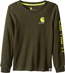 Carhartt Kids - CB Long Sleeve Logo Tee (Little Kids)